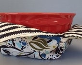 Microwave Bowl Warmer or Potholder Bistro Fabric