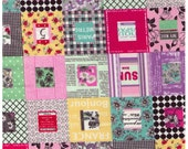 HALF YARD Yuwa - Cheater Blocks in Pink - REDUCED Print Size - Suzuko Koseki - Japanese Import- Paris Bonjour France Merci Modes Le Magazine