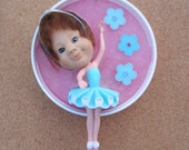 Tiny Dancer - upcycled doll assemblage wall art