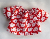 red whales, shirt for 10 -12 inch, waldorf dolls, germandolls, doll shirt, Waldorf Toy, gift for boys