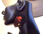 Afro Silhouette Wooden Earrings