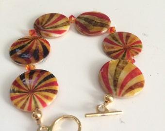 Sunburst bracelet - original, handmade