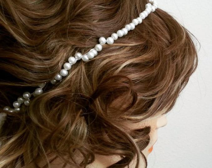 White Pearl Head Chain