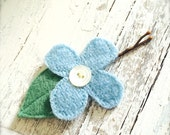 Forget me Not HAIR PIN bobbie Repurposed Goods For Your Hair