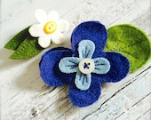 It's SPRING Daisy and PANSY pair upcycled wool pins