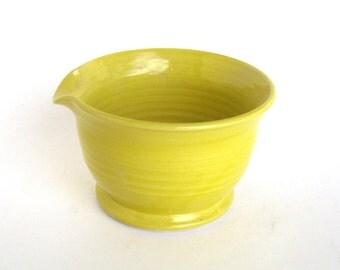 Small Mixing Bowl - Yellow Glaze