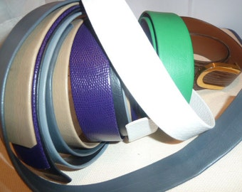Leather for Bracelets, Belts and General Repurposing