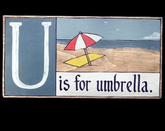 Beach, Shoreline Primer - U is for Umbrella