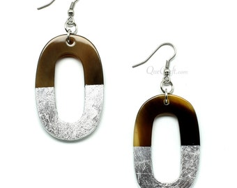 Horn & Lacquer Earrings - Q9743-S