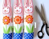 Child's scandinavian softie toy Easter bunny rabbit plush retro Swedish Flower by Jane Foster
