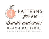 Choose ANY 4 PATTERNS Bundle and Save on 4 Peach Patterns PDF sewing patterns for toddlers girls clothes