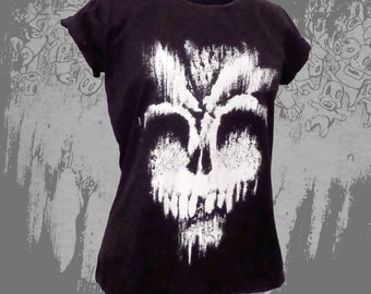 Black Womens fitted SWEET DEATH t-shirt Fruit Of The Loom accurate SIZES detailed