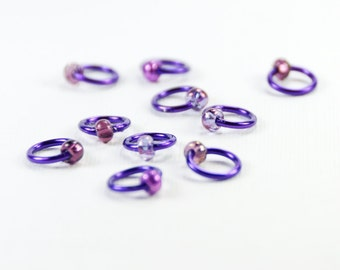 Purple Passion (US6) - Eterne Stitch Markers (snagfree)