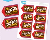 Instant Download - WONKA Inspired Party Favour Tags Printable