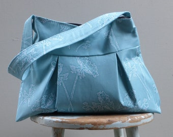Duck Egg Blue Hobo - Queen Anns Lace -  Key Fob - 3 Pockets