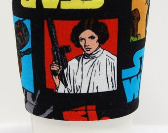 Coffee Cozy, Cup Sleeve, Eco Friendly, Slip-on:  Star Wars Princess Leia