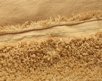Golden Tan Cotton plush fabric