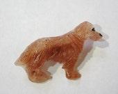 "Golden Retriever Pin - Handmade Resin Dog Brooch - ""Baxter"""