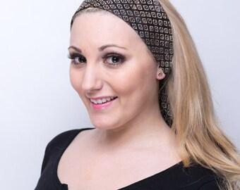 Batik Headband, Batik Head Band, Batik Hairband, Batik Hair Band, Brown Headband, Brown Hairband, Tie On Headscarf, Tie On Headscarves