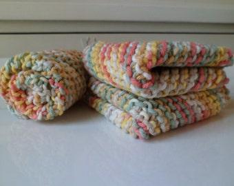 Pastel Peppercorn Cotton Dishcloth Set of 3