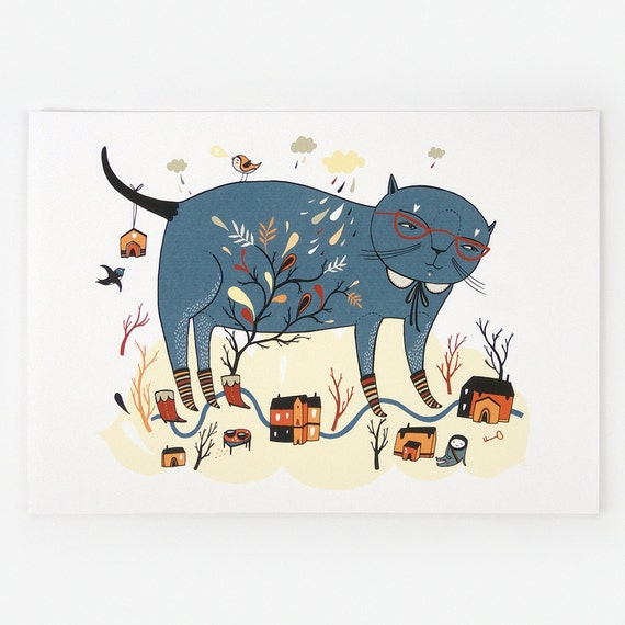 Cassiopeia Cat - Giclee Print