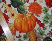 AUTUMN FALL FRUIT basket cotton fabric 2 yards