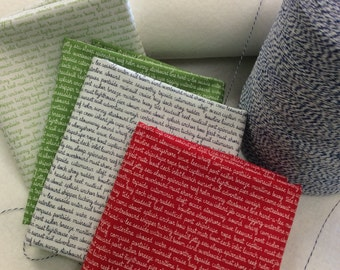 Daysail - By Bonnie And Camille - For Moda - Tiny Script - Half Yard Set - 4 Prints - 19.95 Dollars