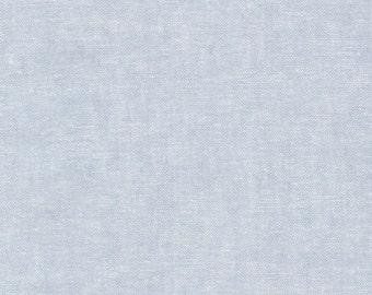Essex Yarn Dyed - Chambray Blue - By Robert Kaufman - 1 Yard - 9.95 Dollars