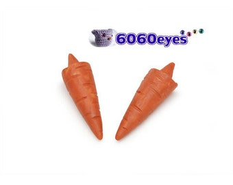 "Snowman carrot nose glue on straight nose 1.25"" - 2 pcs"