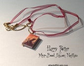 Harry Potter Deathly Hallows Mini Book Necklace USA with Ribbon, Limited Edition