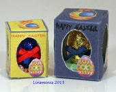 doll house miniature 12th scale boxed Easter eggs