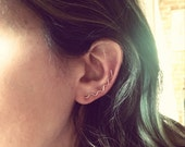 Sterling Silver Squiggle Ear Pin