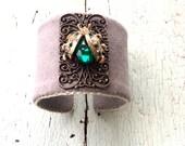 Beetle Cuff Bracelet - Lady Bug