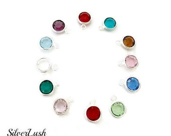 Birthstone Crystal Add-Ons for Custom Handstamped Jewelry