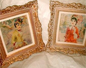Turner Prints in Regency Frames -  Painting Prints - John Strevens - Vintage Turner Product for the American Home - 1950s Hollywood Baroque