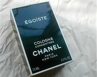 Chanel Egoiste Cologne Concentree for Men - 75ml - Opened - Original Box 2.5 Fl Oz. -