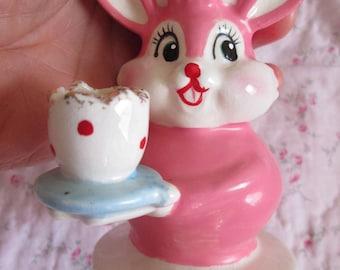 Vintage  Holt Howard Bunny Candleholder .. Super Cute + Super RARE!!