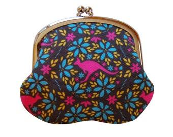 Pink kangaroo coin purse