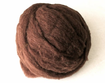 Roving for Spinning -- Polypay Wool Brown 14 -- 4 oz.