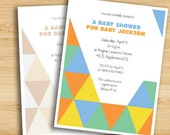 Triangle Pattern Event Invitation (printable - bright and neutral color options)