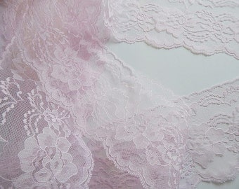 PiNK LaCE, BLuSH PiNK LaCE Trim 4 in. wide, 5 yds, DIY Wedding, Table Runners, Bows, Invitations, Lace Runner