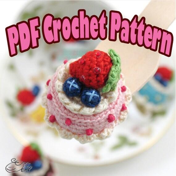 Crochet Amigurumi Ring : PDF Amigurumi / Crochet Pattern Amigurumi dessert jewelry