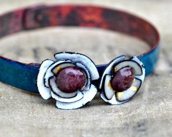 Mill End Bracelet - White 'Poppy'