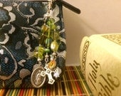 Our Lady of Guadalupe Green Beaded Purse Fob Planner Charm Zipper Pull Virgin Mary Holy Medals