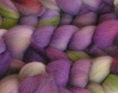Roving Fiber Top Wool Falkland LAVENDER FIELDS easy spin 4 oz Phatfiber Feature March Gorgeous Spin Felt Craft Purple Green