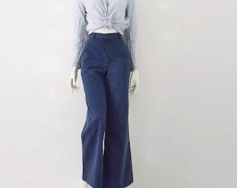 Vintage 70s Ditto Soft Denim Blue Jeans 24 Waist
