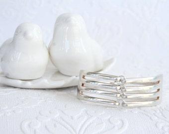 Silver Plated Dinner Fork Bracelet