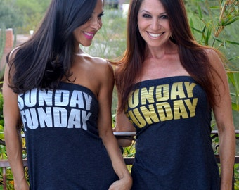 Sunday Funday. Baseball Shirt. Football Shirt. Soccer Shirt. Feel Naked T-shirt Tube Tops. Sunday Shirt. Women's Tube Top. Summer Shirt.