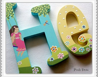 Wooden Letters, Nursery Letters, Playroom Letters, Wedding Letters, Teen Letters, Baby Gift, Decorative Letters, Painted Initials, Hanging