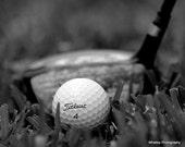 Black and white golf photo, sports art, gym art, sports decor, man cave decor, golf decor